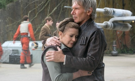 Carrie Fisher with Harrison Ford in \