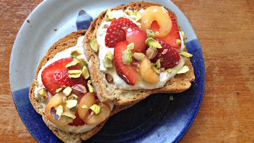 Ricotta-Fruit Toast