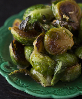 Roasted Brussels Sprouts with Maple Syrup