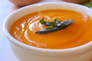 Andrea Beaman\'s Squash Puree with Crispy Sage