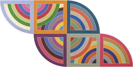 Frank Stella, Harran II, 1967. Polymer and fluorescent polymer paint on canvas. 120 × 240 in. (304.8 × 609.6 cm). Solomon R. Guggenheim Museum, New York; gift, Mr. Irving Blum, 1982. © 2015 Frank Stella/Artists Rights Society (ARS), New York