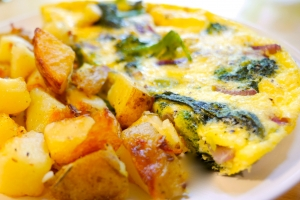 Andrea Beaman\'s Eggs with Broccoli and Cheddar Cheese
